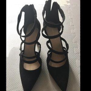 BCBGeneration black suede heels size 8.5